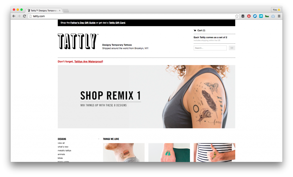 Tattly screenshot