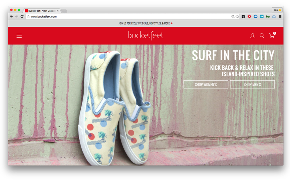 Bucketfeet Website